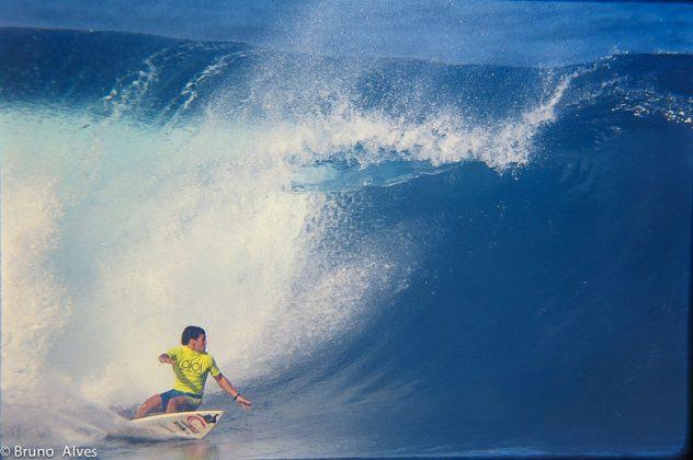 Fabio Gouveia, Pipe Masters, Havaí, 1991. Foto: Bruno_Alves.