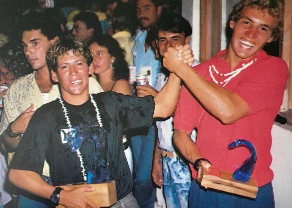 Fabio Gouveia e Rodrigo Resende, Campeão e terceiro colocado no Mundial em Porto Rico, 1988. Foto: Beto Issa.