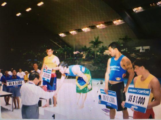 Fabio Gouveia, Mundial na Piscina, Japão. Foto: Arquivo pessoal.