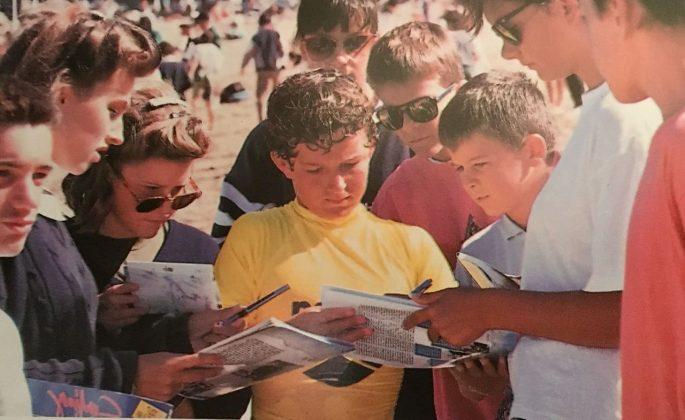 Neco Padaratz, ainda garoto, que veio a vencer na França em 2002, e bateu o campeão mundial Andy Irons. Foto: Beto Issa.