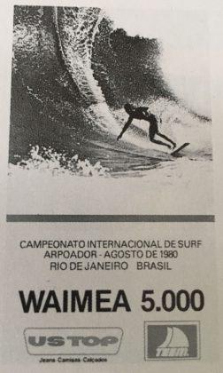 Cartaz do último Waimea 5000. Foto: Reprodução.