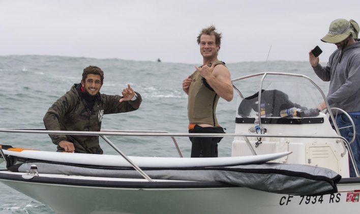 Lucas Chianca e Ben Andrews, Mavericks, Califórnia (EUA). Foto: WSL / Frank Quirarte.