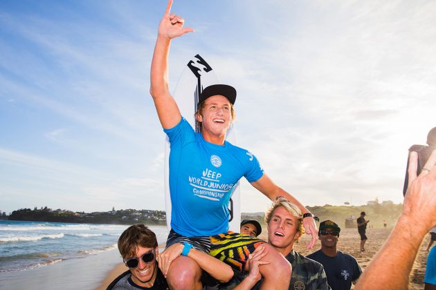 Finn McGill, Mundial Pro Junior 2017, Kiama, Austrália. Foto: WSL / Dunbar.