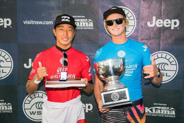 Finn McGill e Joh Azuchi. Mundial Pro Junior 2017, Kiama, Austrália. Foto: WSL / Dunbar