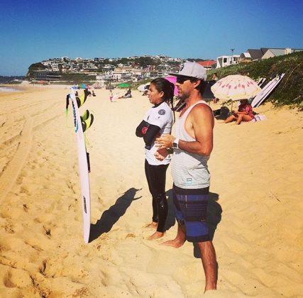 André Teixeira e Silvana Lima, Newcastle, Austrália. Foto: Arquivo pessoal.