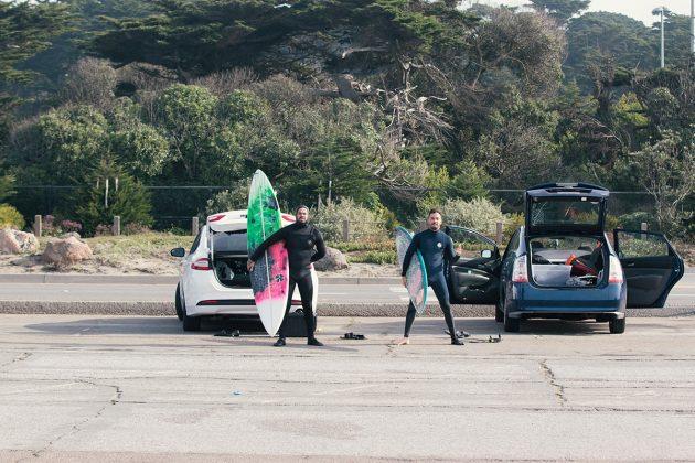 Marcos Tirox e Felipe Silva, Ocean Beach, São Francisco, Califórnia (EUA). Foto: Pedro Bala.