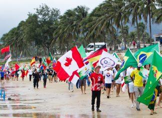Cerimônia reúne nações