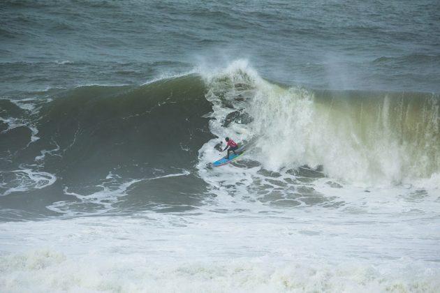 Grant Baker. Nazaré Challenge 2018, Praia do Norte, Portugal. Foto: WSL / Masurel