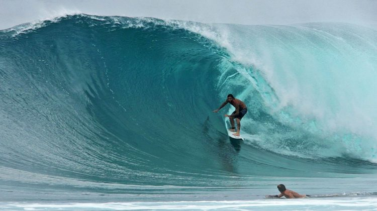 Mikey Wright, Backdoor, North Shore de Oahu, Havaí. Foto: Bruno Lemos / Sony Brasil.