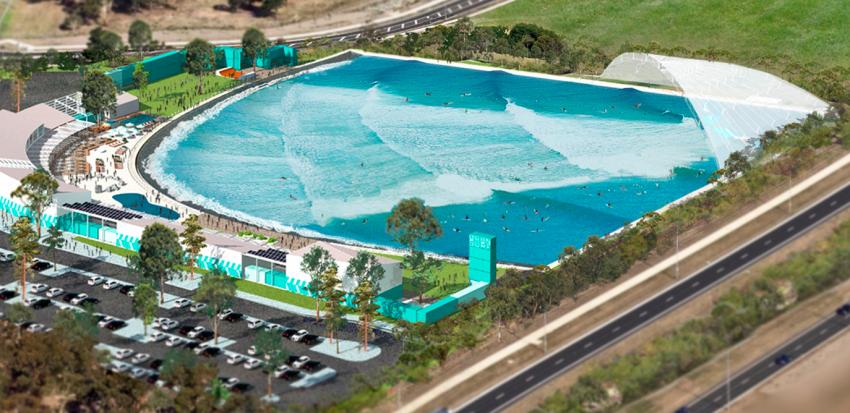 Melbourne recebe piscina waves for Piscina wave
