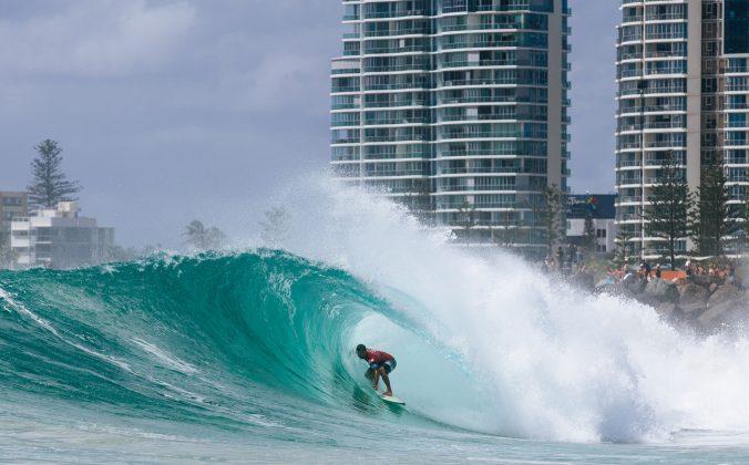Michel Bourez, Quiksilver Pro 2018, Gold Coast, Austrália. Foto: WSL / Sloane.