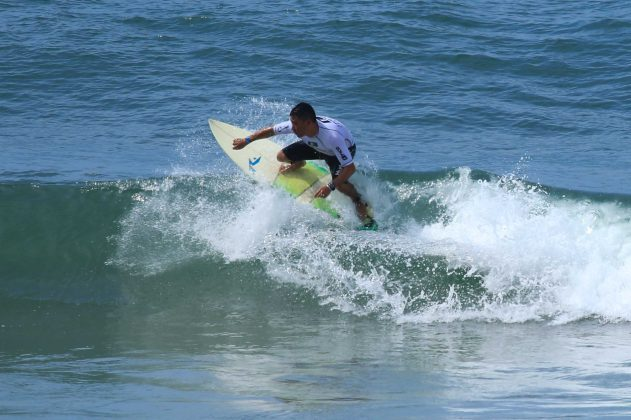 Marcos Matsubara, Fico Surf Festival 2018, praia do Tombo, Guarujá (SP). Foto: Silvia Winik.