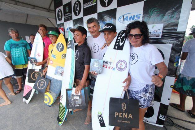Pódio Mirim. Pena Paracuru Pro 2018, Ronco do Mar, Paracuru (CE). Foto: Lima Jr.