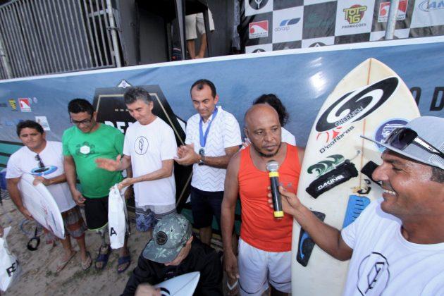 Pódio Surf Adptado. Pena Paracuru Pro 2018, Ronco do Mar, Paracuru (CE). Foto: Lima Jr.