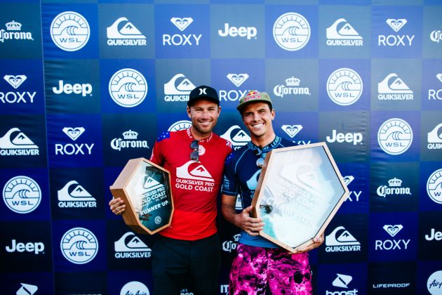Adrian Buchan e Julian Wilson, Quiksilver Pro 2018, Gold Coast, Austrália. Foto: WSL / Sloane.