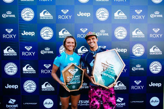 Keely Andrew e Julian Wilson, Quiksilver Pro 2018, Gold Coast, Austrália. Foto: WSL / Sloane.