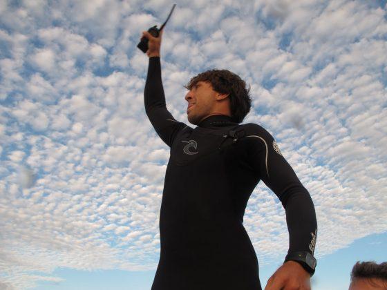 Serginho Laus coordenando nossa equipe, Pororoca do Rio Araguari (AP). Foto: Skeet.