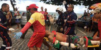 Banhista atacado em Pernambuco