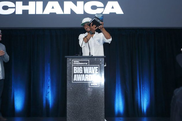 Lucas Chianca, WSL Big Wave Awards 2018, Califórnia (EUA). Foto: © WSL / Wlodarczyk.
