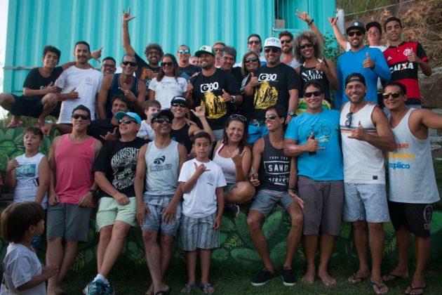 Confraternização Master. Rio Bodyboarding Master Series 2018, Praia Brava, Arraial do Cabo (RJ). Foto: David Ventura