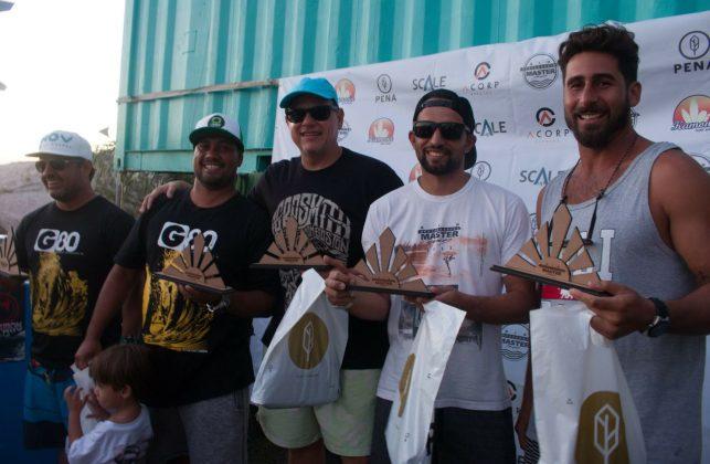 Equipe vice-campeã. Rio Bodyboarding Master Series 2018, Praia Brava, Arraial do Cabo (RJ). Foto: David Ventura