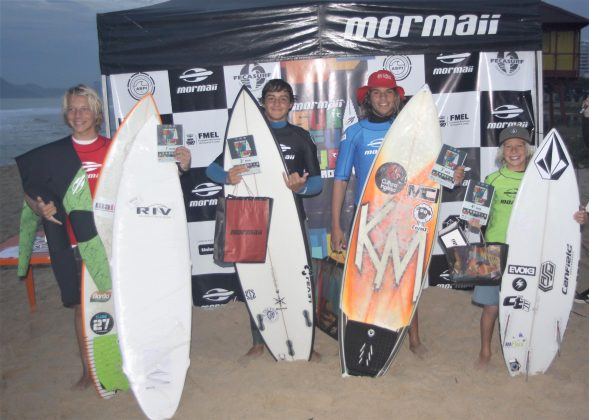 Pódio Mirim, Surfuturo Groms 2018, Praia Brava, Itajaí (SC). Foto: Basilio Ruy/P.P07.