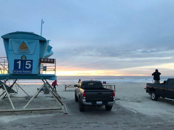 Torre dos salva-vidas, Califórnia (EUA). Foto: Arquivo pessoal Fabio Gouveia.