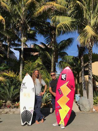 Rob Machado e Fabio Gouveia, Califórnia (EUA). Foto: Arquivo pessoal Fabio Gouveia.