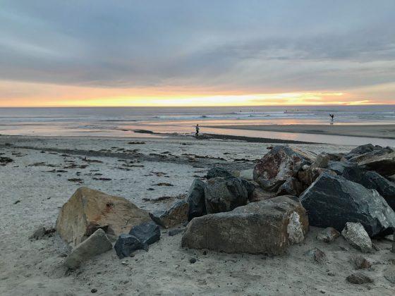 Pôr do sol em Cardiff, Califórnia (EUA). Foto: Arquivo pessoal Fabio Gouveia.