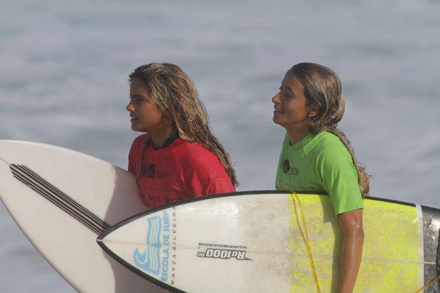 Anne dos Santos e Raysa, Rio Surf Pro Brasil 2018, Macumba (RJ). Foto: Pedro Monteiro.