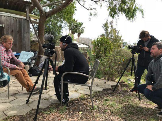 Equipe Scult Filmes fazendo seu trabalho, Califórnia (EUA). Foto: Arquivo pessoal.