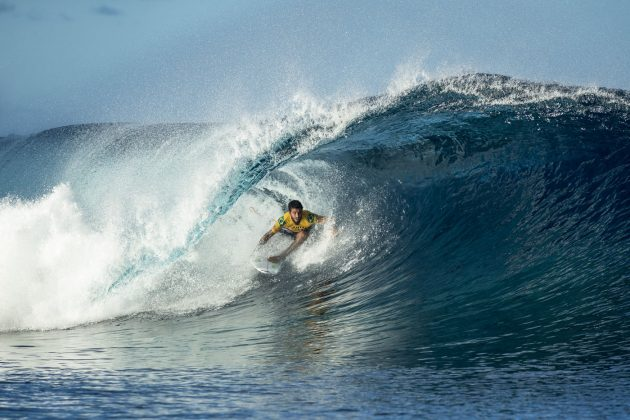 Filipe Toledo, Tahiti Pro 2018, Teahupoo. Foto: WSL / Poullenot.