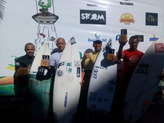 Pódio Master Pro, Top Surf Pro 2018, Praia do Forte, Cabo Frio (RJ). Foto: Divulgação.