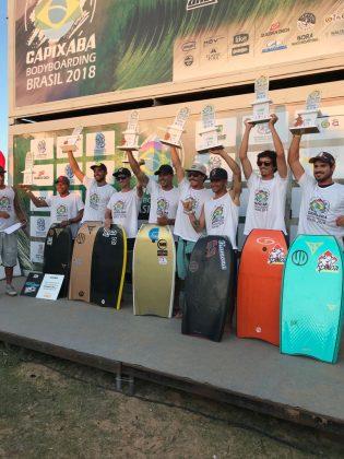 Finalistas, Capixaba Bodyboarding Brasil 2018, Barra do Jucu (ES). Foto: Arquivo pessoal.