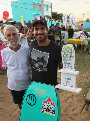 Edmar Rezende e Uri Valadão, Capixaba Bodyboarding Brasil 2018, Barra do Jucu (ES). Foto: Arquivo pessoal.