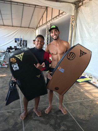 Sócrates Santana e Gabriel Braga, Capixaba Bodyboarding Brasil 2018, Barra do Jucu (ES). Foto: Arquivo pessoal.