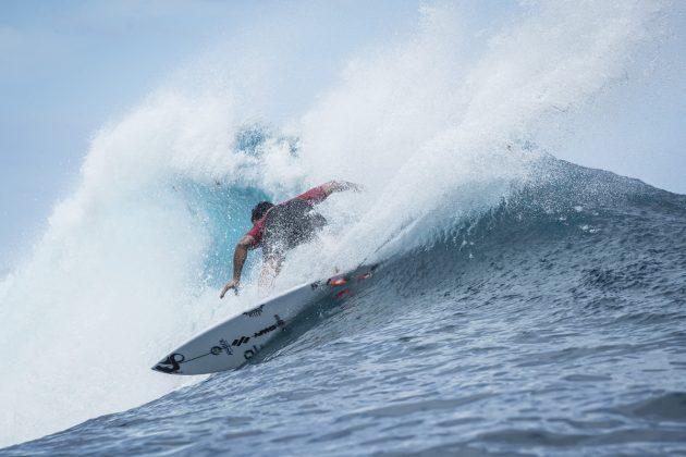 Willian Cardoso, Tahiti Pro 2018, Teahupoo. Foto: WSL / Poullenot.