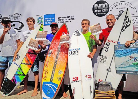 Pódio da Masculino Pro, Rio Surf Pro Brasil 2018, Macumba (RJ). Foto: Pedro Monteiro.