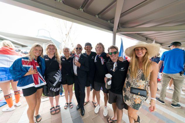 Equipe da Nova Zelândia, Cerimônia de abertura do UR ISA World Surfing Games 2018, Long Beach, Tahara, Japão. Foto: ISA / Sean Evans.