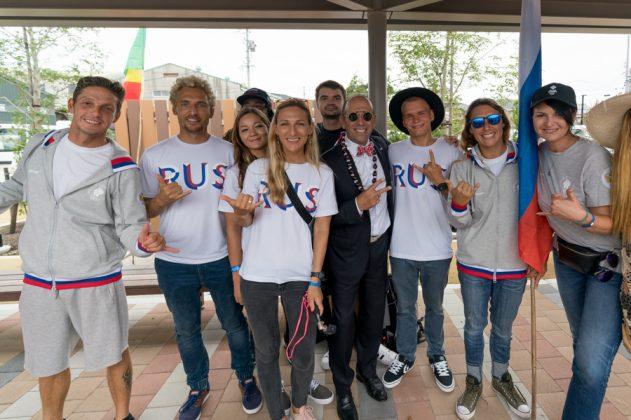 Equipe da Rússia, Cerimônia de abertura do UR ISA World Surfing Games 2018, Long Beach, Tahara, Japão. Foto: ISA / Sean Evans.