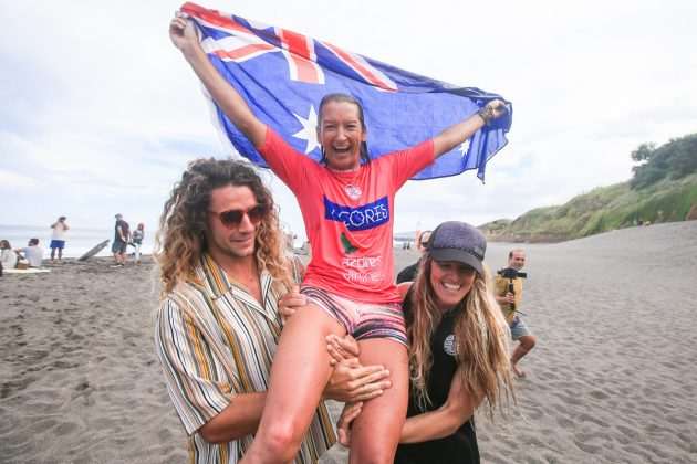 Layne Beachley, World Masters Championship 2018, Açores, Portugal. Foto: WSL / Masurel.
