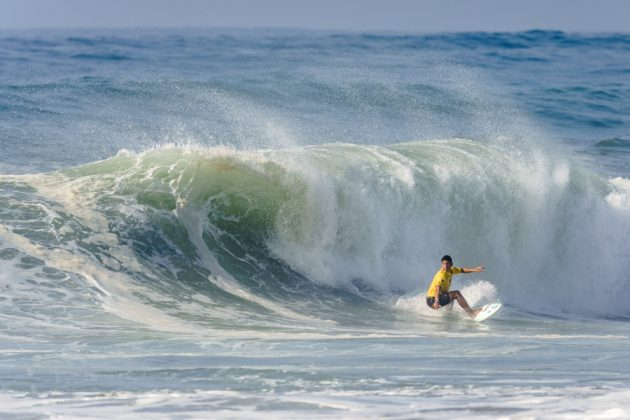Lexter Escobar, UR ISA World Surfing Games 2018, Long Beach, Tahara, Japão. Foto: ISA / Ben Reed.