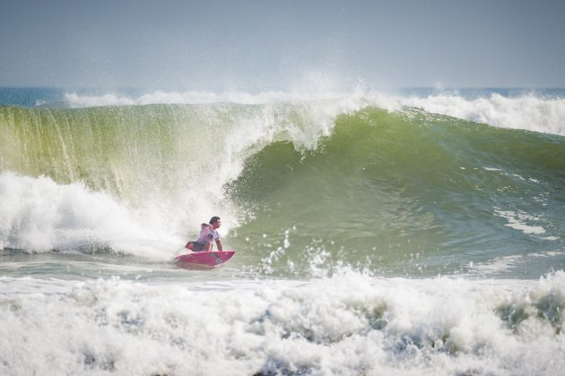 Luke Dillion, UR ISA World Surfing Games 2018, Long Beach, Tahara, Japão. Foto: ISA / Ben Reed.