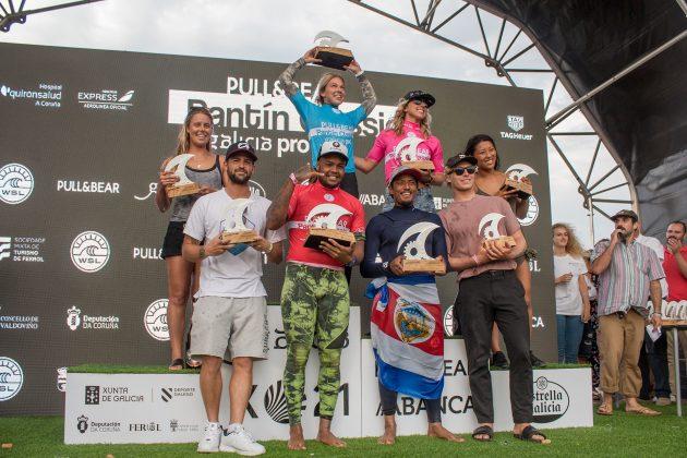 Pódio, Pantin Classic Pro 2018, Galícia, Espanha. Foto: WSL / Poullenot.