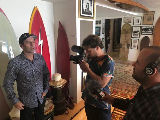 Presidente da ISA, Fernando Aguerre conta como o surfe se tornou olímpico, Califórnia (EUA). Foto: Arquivo pessoal Fabio Gouveia.