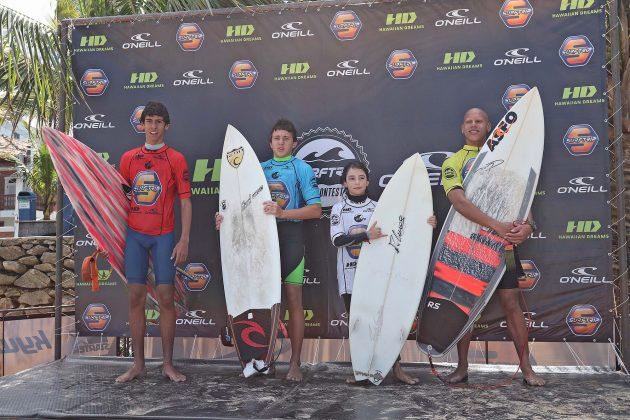 Pódio Júnior, SP Contest 2018, Tombo, Guarujá (SP). Foto: Munir El Hage.
