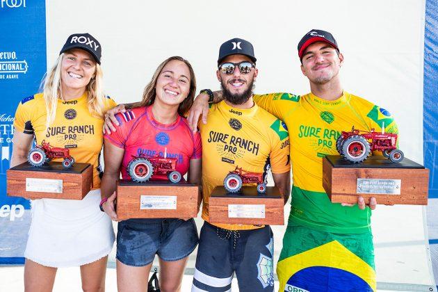 Stephanie Gilmore, Carissa Moore,Filipe Toledo e Gabriel Medina, Surf Ranch Pro 2018, Lemoore, Califórnia (EUA). Foto: WSL / Cestari.
