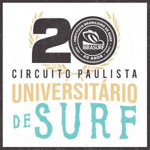 Cartaz da 20ª edição do Circuito Paulista Universitário de Surf