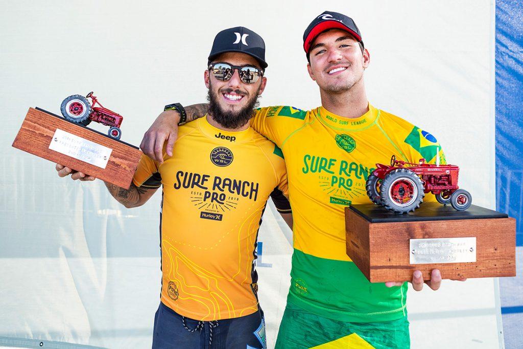 Os melhores no Ranch: Filipe Toledo e Gabriel Medina esquentam a briga pelo título mundial.