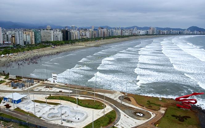 Quebra-Mar, Santos (SP). Foto: Cicero Lehmann.